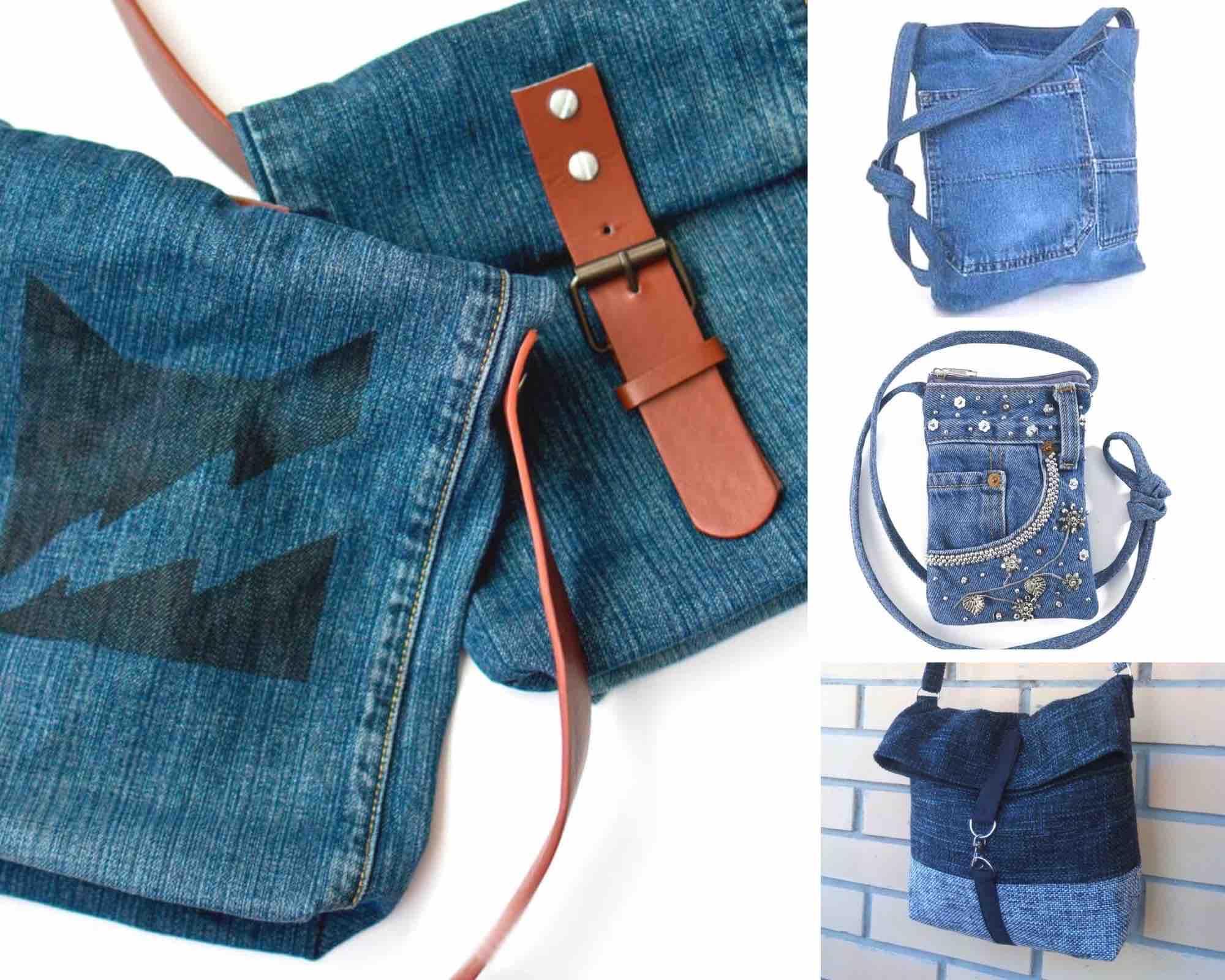 маленькая сумка из джинсов
