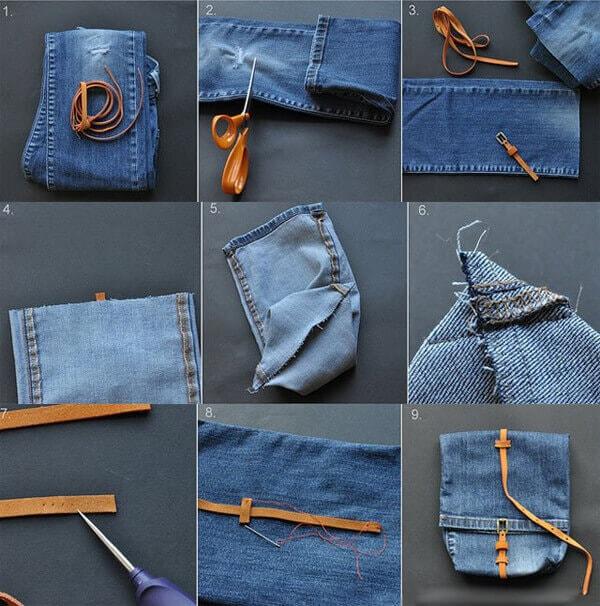 инструкция кроя сумки из джинсов